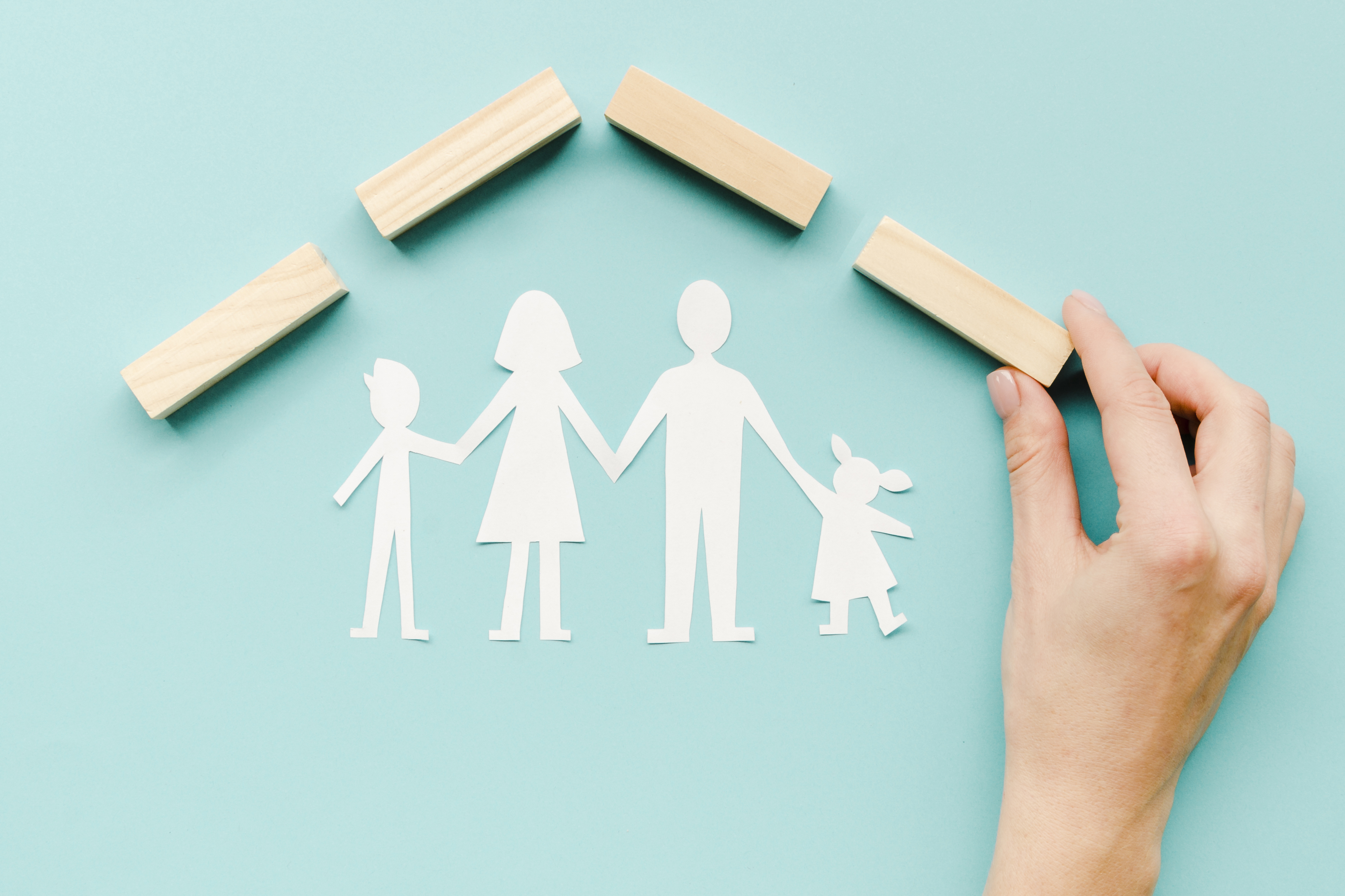 composition-for-family-concept-on-blue-background